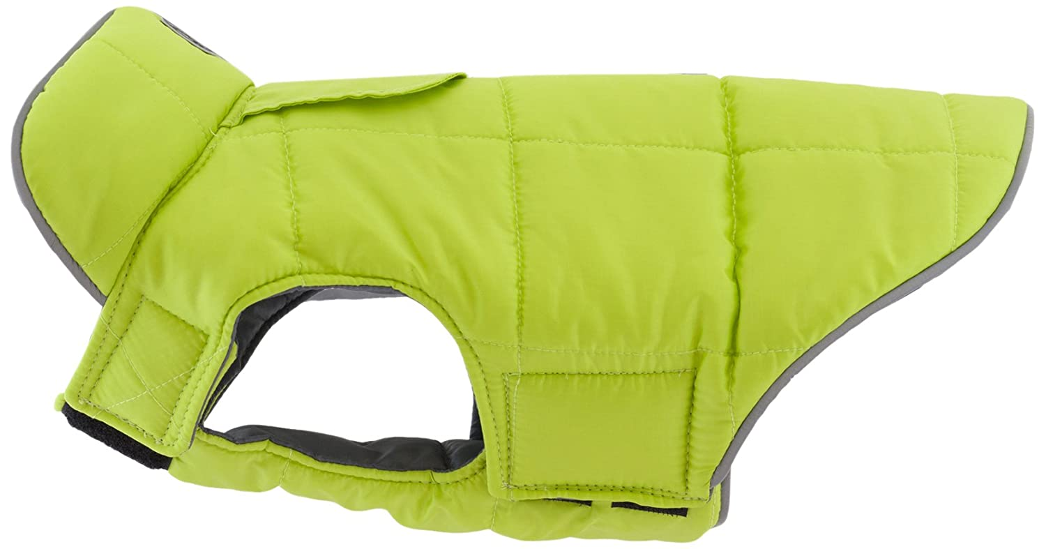 Lime Charcoal 16 Lime Charcoal 16 RC Pet Products Skyline Puffy Vest, Reflective, Water-Repellent, Reversible Dog Coat, Size 16, Lime Charcoal