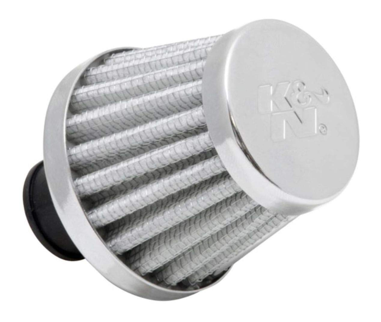 K&N Vent Air Filter/Breather: High Performance, Premium, Washable, Replacement Engine Filter: Flange Diameter: 0.375 In, Filter Height: 1.75 In, Flange Length: 0.5 In, Shape: Breather, 62-1600WT