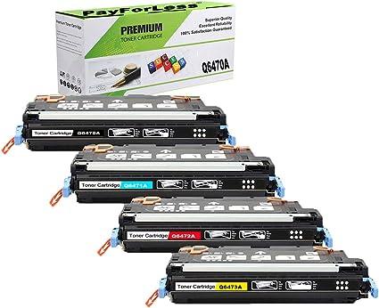 4 PK Q6470A Black Toner Cartridge For HP Color LaserJet 3600 3600DN 3800 CP3505