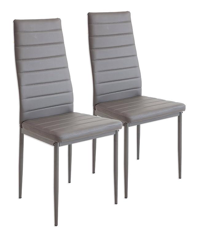 277 opinioni per Albatros 2864 MILANO- Set di 2 sedie da pranzo, grigio