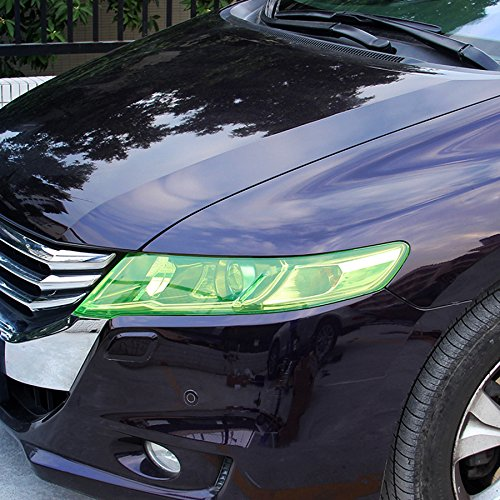 12 by 48 inches Self Adhesive Auto Car Tint Headlight Taillight Fog Light Vinyl Smoke Film Sheet Sticker Cover - Green Of Tint