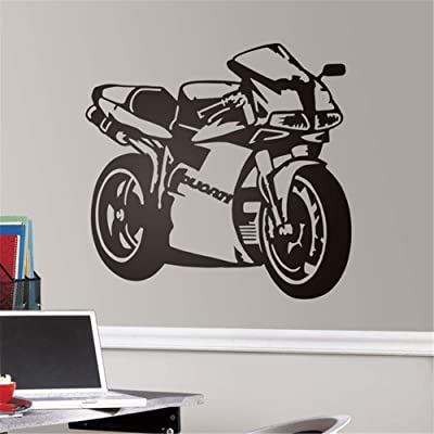 gafuen Peel and Stick Removable Wall Stickers Boy Room Decal Moto Ducati for Boys Room: Home & Kitchen