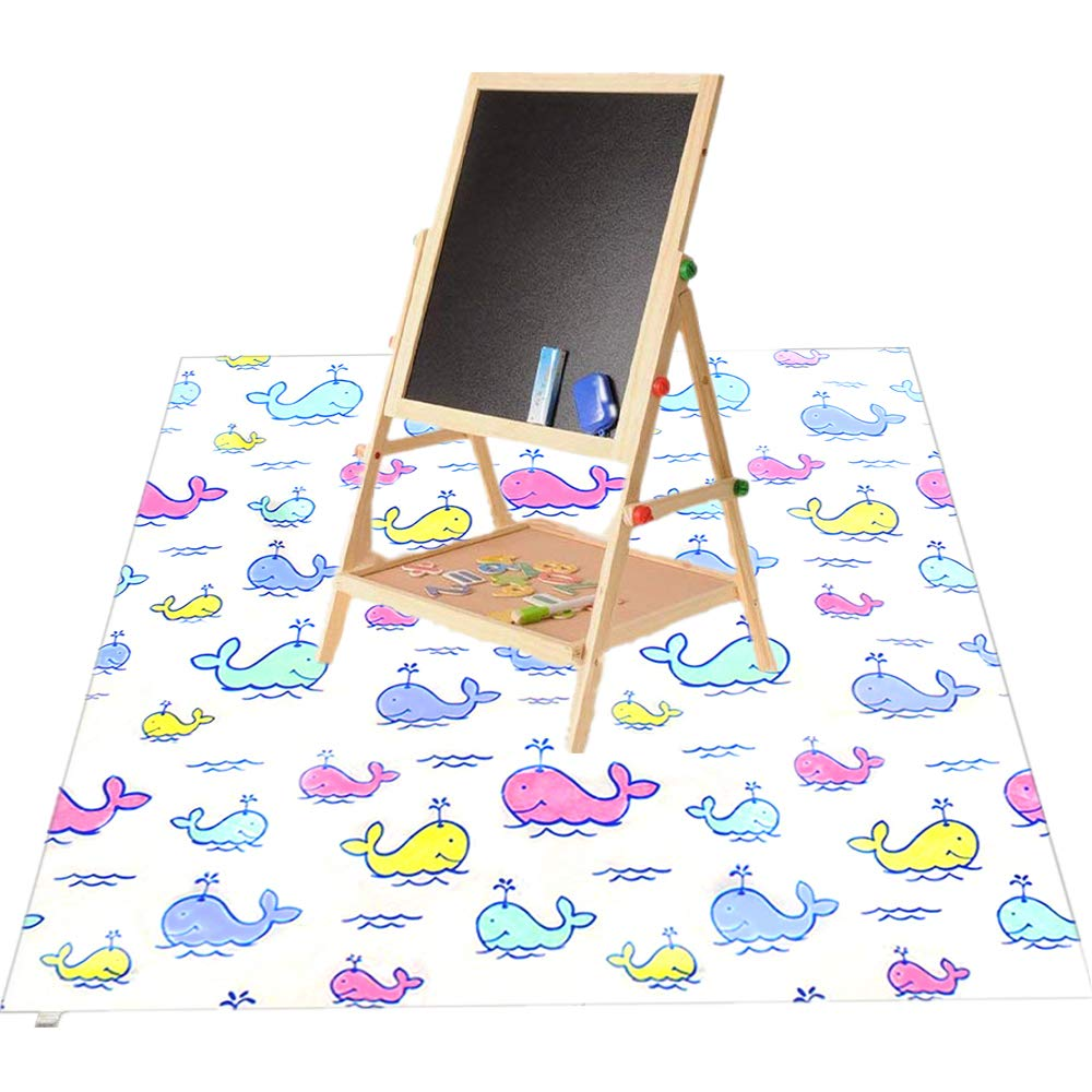 51 Splat Mat for Baby Highchairs Machine Washable Floor Mat Anti-Slip Table Cloth Water Resistant Play Mat for Baby Meals//Arts//Crafts//Play