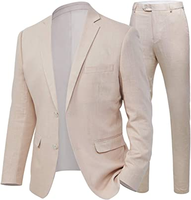 Aokaixi Mens Suit 2 Button Beach Wedding Tuxedos For Men Grooms Jacket Pants Amazon Co Uk Clothing