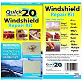 Quick 20 Windshield Repair Kit: Fix Rock Chip, Stone Crack, Star Damage, Bullseye Break & Stone Damage - Rv, Car, Automobile, Truck, Glass & More by Quick Products