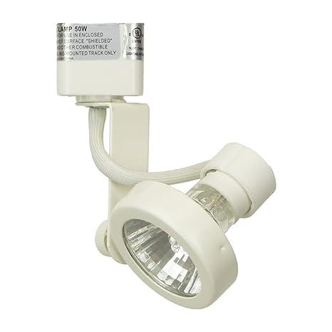 direct lighting 50067 white gu10 base line voltage track lighting
