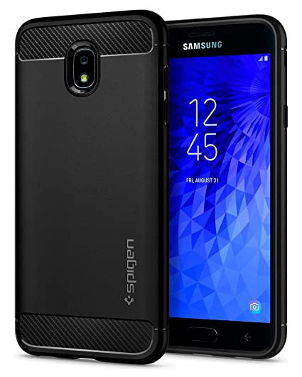 Spigen Rugged Armor Designed for Galaxy J7 Refine Case/Galaxy J7 2018 Case/Galaxy J7 Star Case - Black