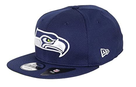 d1399d8bfb2 New Era NFL Seattle Seahawks Training Mesh Snapback Cap 9fifty 950 S M  Basecap Navy