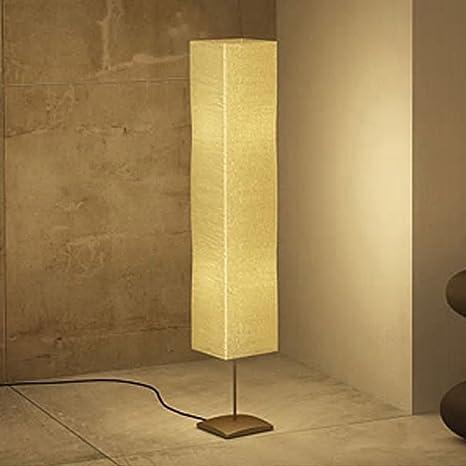 luckyfu lámpara de pie de tierra moderna 1,35 M. de papel de ...