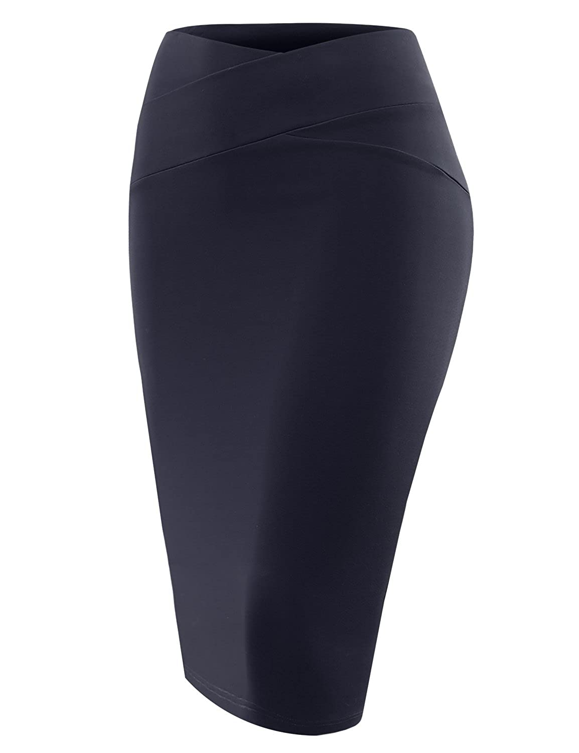 A.F.Y All For You Women's Slim Fit Bodycon Midi Ponte Pencil Skirts Made In USA