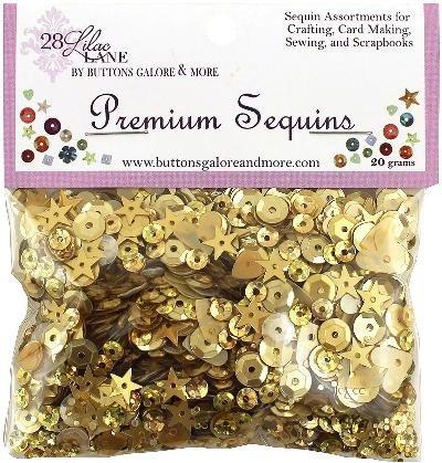 Buttons Galore PS726 20G Golden 28 Lilac Lane Premium Sequins Multicolor