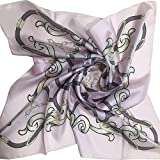 Silk Scarf, ST889042 Jessica Base, precision printed, made in Japan, Silk Twill, 35x35in, Brand Cased (Pink)