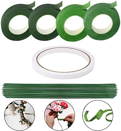 Arreglo Floral Kit de 1//2 pulgadas de cinta Floral cable calibre 22 floral y 100 piezas
