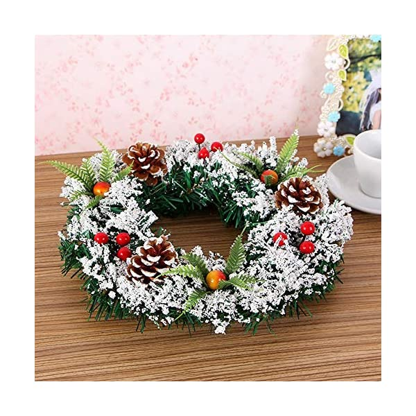 DENTRUN-Christmas-Wreath-Whitehall-DecoratedHandmade-Festival-Simulation-Flowers-Decoration-Wedding-CelebrationWinter-Red-Berry-Holiday-Versatile-Design-Christmas-Artificial-Door-Wreaths