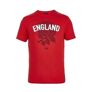 Canterbury England Red Rose - Camiseta de Rugby para Hombre, Color Rojo, Talla M