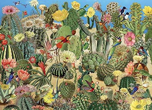 Amazon Com Cobble Hill Puzzles Cactus Garden 1000 Piece Flowers