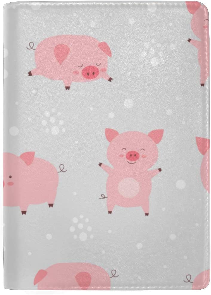 Cute Passport Case Cheerful Cute Little Cute Flying Pigs Stylish Pu Leather Travel Accessories Luxury Passport Holder Cover Case For Women Men