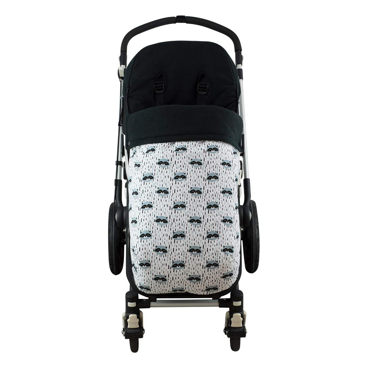 Janabebé Universal Baby Footmuff Sack for Pushchairs (Bugaboo, Graco, Cybex and More) (Raccoon, Polar Fleece) by JANABEBE