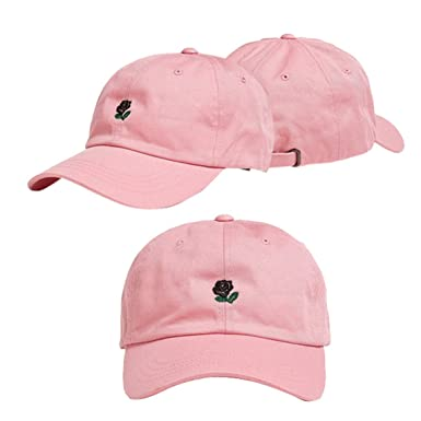 54b51ec0 Nadition Women's and Men's Rose Embroidered Dad Hat Cute Adjustable ...