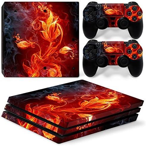 Sony PS4 Playstation 4 Pro Skin Design Foils Pegatina Set - Fire ...