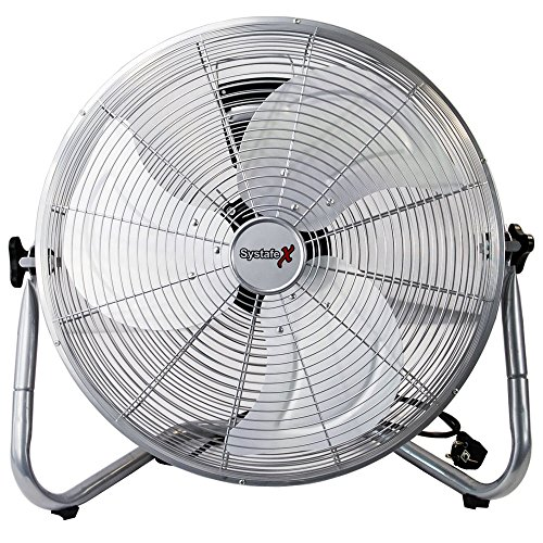 Bodenventilator 45cm - Windmaschine sehr leise 100 Watt -gefühlte 150 Watt, Fotostudio - Home & Office tauglich - Raumventilator Vollmetall Ventilator -