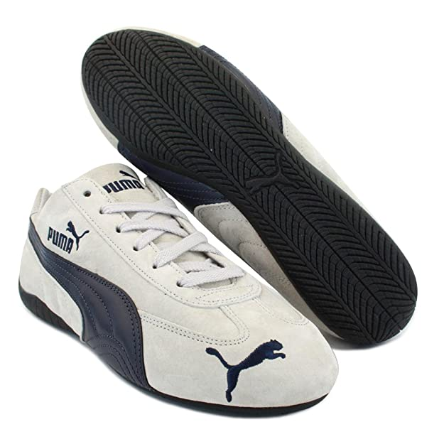 33bf63545e2 Puma Speed Cat Sd 300465 03 Mens Laced Suede Trainers White Navy - 9  Amazon .co.uk  Shoes   Bags