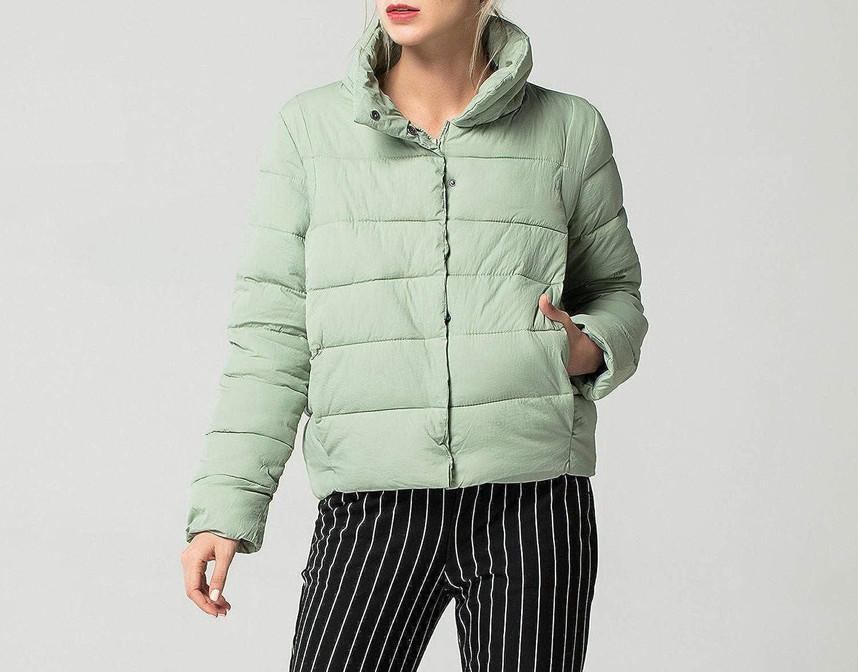 Amazon.com: Jifnhtrs Stand Collar Basic Jacket Coat Warm Winter Jacket Women Slim Thick Outerwear: Clothing