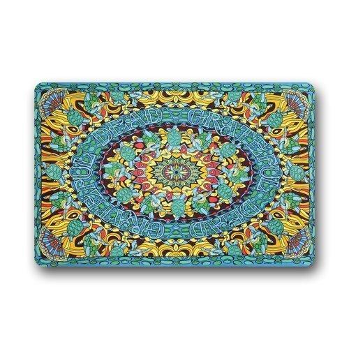 Custom Joy Grateful Dead Terrapin Dance Tapestry Funny Doormat House Warming Presents Non-Slip Rubber Indoor Floor Mat Machine Washable 23.6 x 15.7 Inch
