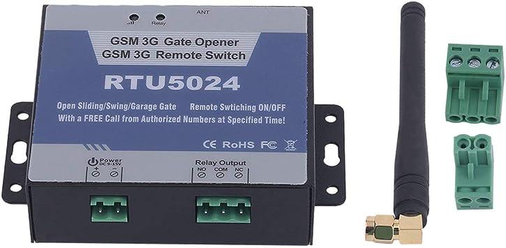 Tor Abridor, Smart GSM Motor de apertura de puerta garaje correderas Swing Puerta Relé Teléfono Remote on/off switch gratuito llamada SMS Set con antena, para la seguridad: Amazon.es: Bricolaje y herramientas