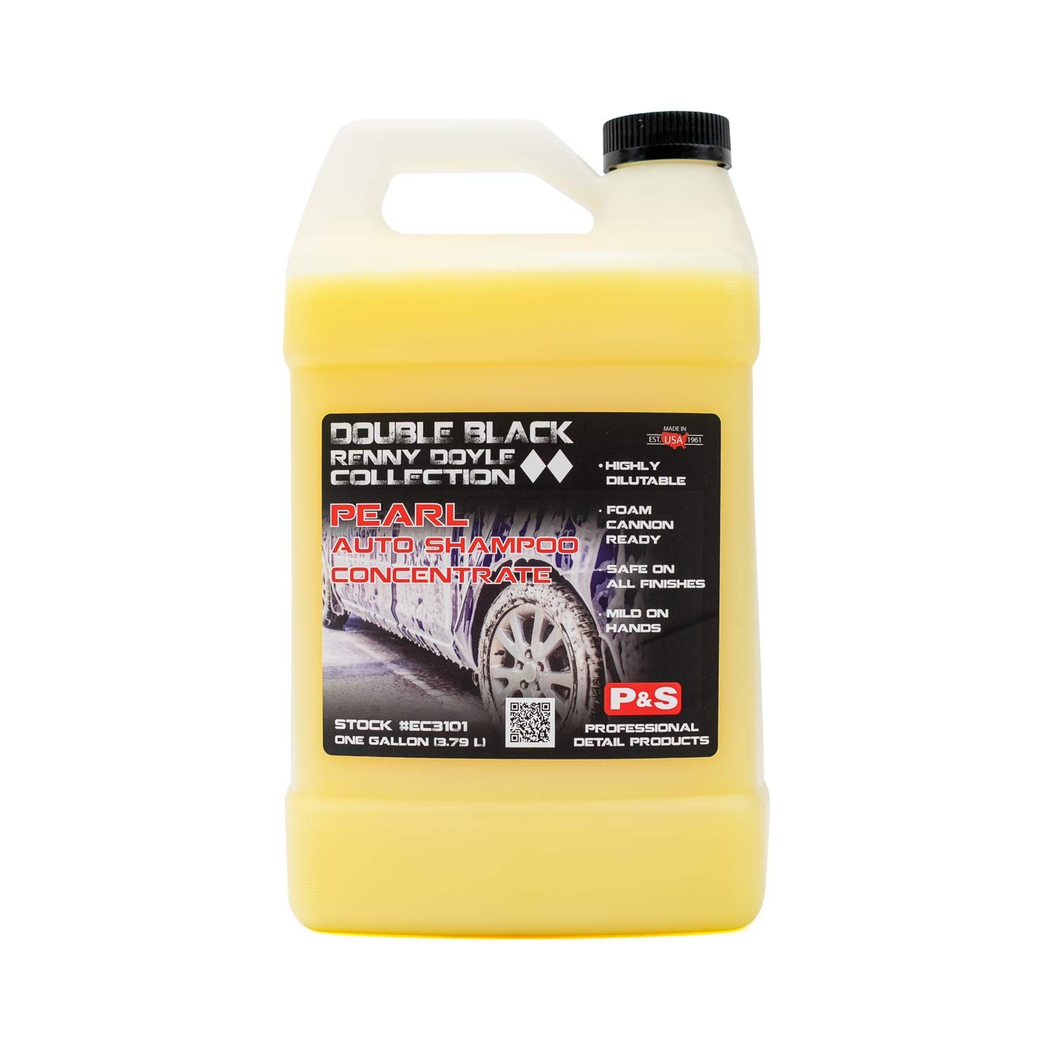 P&S Professional Detail Products - Pearl Auto Shampoo - High Foaming, Easy on Your Auto and Your Hands, Lemon Scent (1 Gallon)