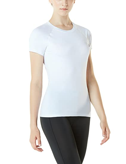Amazon.com: TSLA Womens Athletic Yoga Top Short Sleeve ...