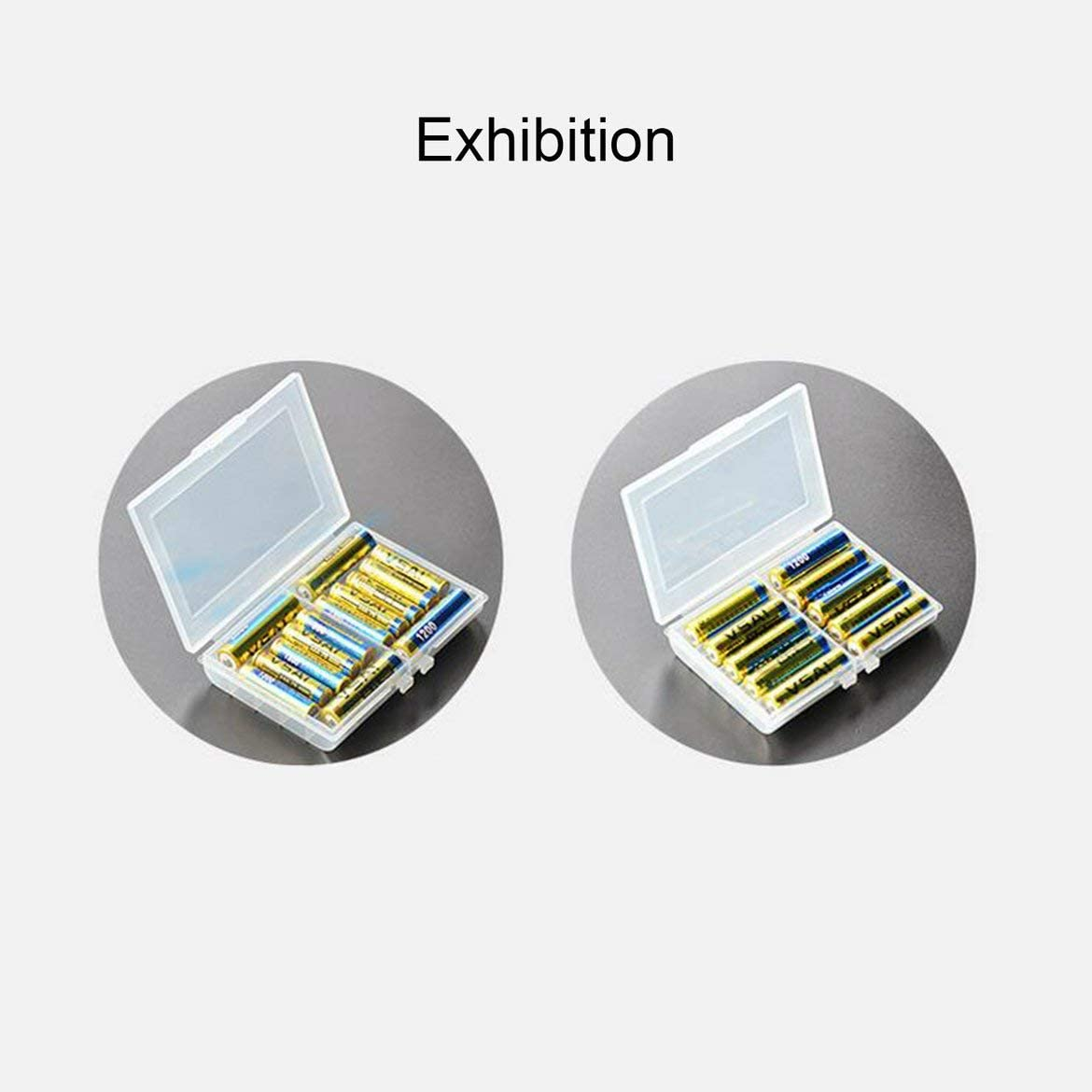 Pandamama 1 Pcs Battery Holder Case for Holding 10 AA AAA Batteries Hard Plastic Storage Box Cover for No.5//No.7 Battery Case