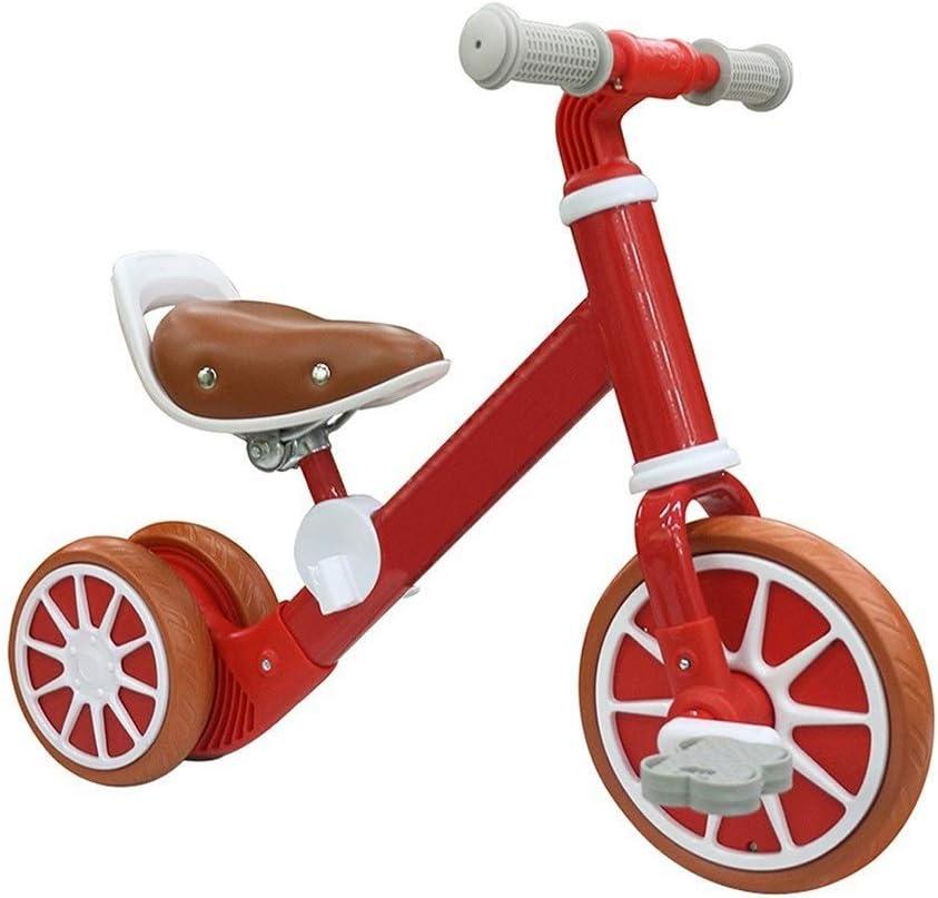Triciclo de pedales para niños, triciclo de deslizamiento para juguetes de bebé, neumático inflable resistente al desgaste, amortiguador, ensamblaje de carros de equilibrio para bebés, bicicleta infan