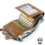 RFID Blocking Leather Wallets for Men Slim Pabin (Vintage Brown)