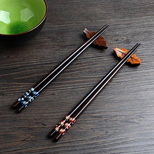 Japanese Style Chopsticks - Chopsticks Japanese Natural Wood Chopsticks made of environmentally friendly Reusable Classic Style Chopsticks 2 Pairs Gift Set (wood)