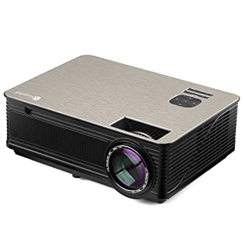 Proyector LED, Houzetek Proyectores 4000 Lúmenes 1080P Full HD, Mini Proyector Portátil con Altavoz, Entretenimiento Home Theater Multimedia con HDMI, ...