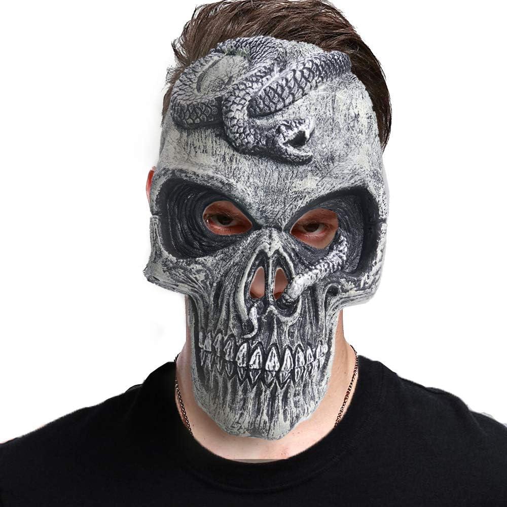 EraSpooky Máscara de Calavera Fantasma Disfraz Disfraces Accesorios Fiesta de Halloween Traje Divertido para Adultos Hombres Mujeres