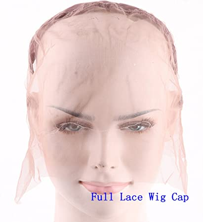 eec9f763c64 Amazon.com: Superwigy Silk Swiss Lace Net Stretch Wig Cap Full Lace Cap and  Lace Front Cap with Adjustable Straps for Making Wigs (Full Lace Wig Cap):  ...