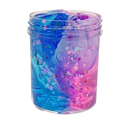 UOFOCO Non-Toxic Clear Slime Beautiful Color Mixing Cloud Slime Kids Relief Stress Toys: Toys & Games