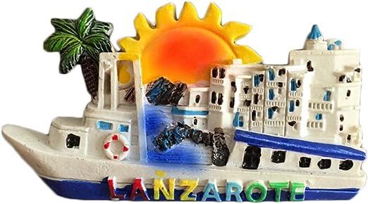 MUYU Magnet Lanzarote España 3D Imán de Nevera en Forma de Barco Pegatina de Viaje, Recuerdo, hogar y Decoración de Cocina, España Imán de Nevera: Amazon.es: Hogar