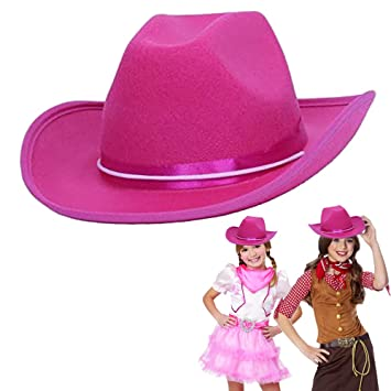 7807805ea5f1c Cowboy Cowgirl Pink Hat Child Country Pink ow Boy Felt Costume Hat ...