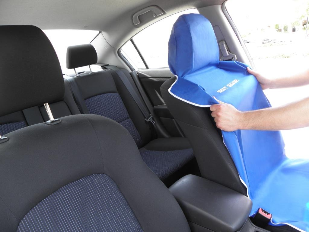 Seat Saver - Waterproof Removable Universal Bucket Car Seat Cover ...