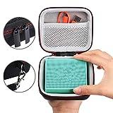 LuckyNV Hard Travel EVA Zipper Cases con bolsillo de malla para JBL GO GO 2 Altavoces inalámbricos Bluetooth para cables de cargador Strap Holding Hands Bag
