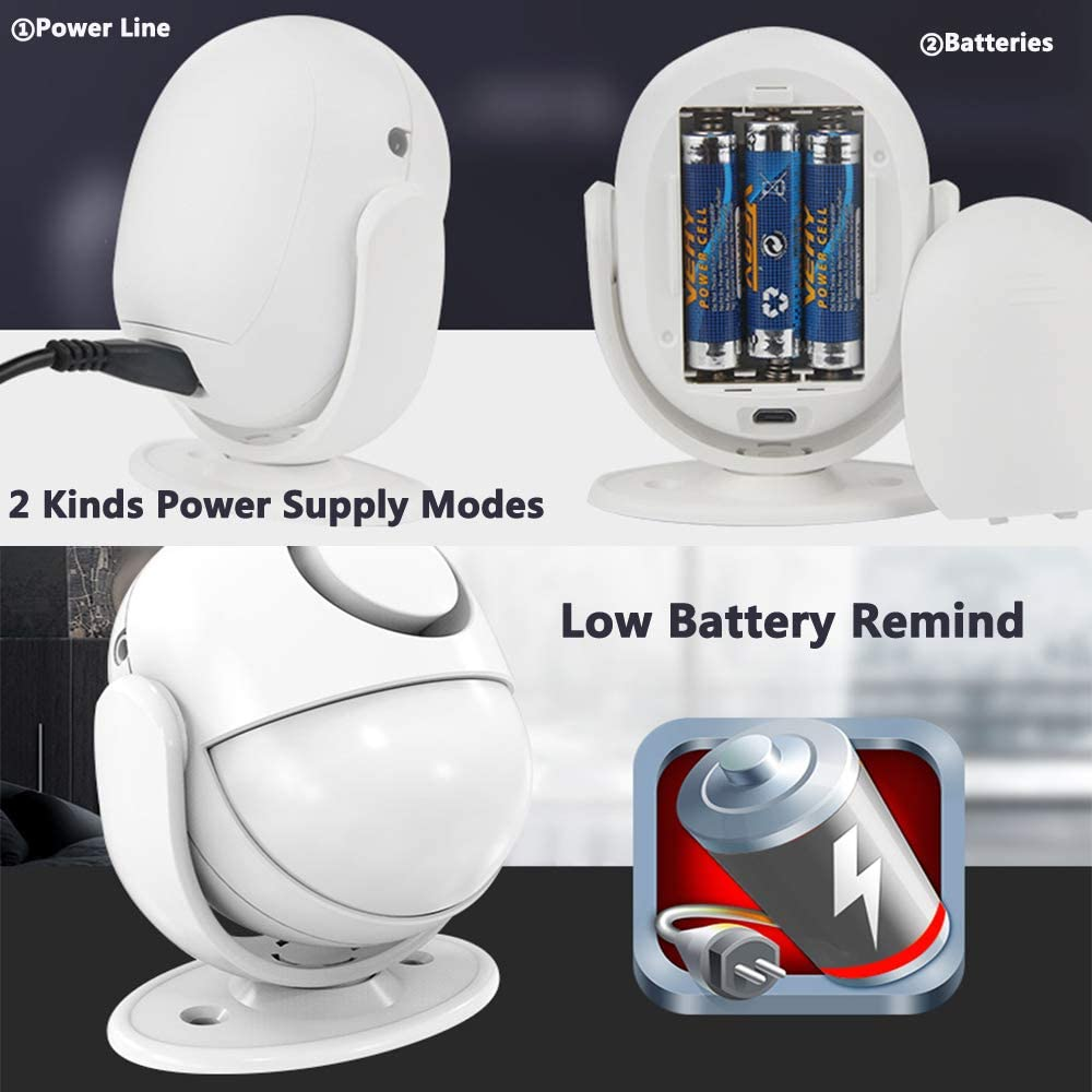 120dB Motion Sensor Alarm Remote Control Wireless Alarm System Ideal of Shop Office Home Security
