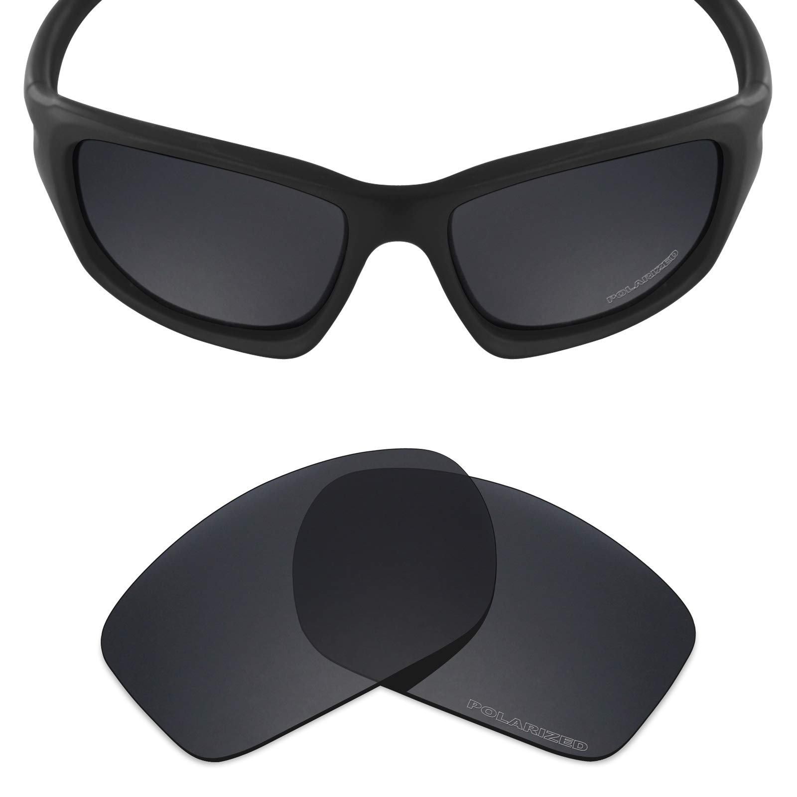 5d84bc6ae940f Mryok+ Polarized Replacement Lenses for Oakley Valve New 2014 - Stealth  Black