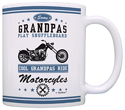 Amazon Grandpa Gifts Cool Grandpas Ride Motorcycles Biker Father Day For From Grandson Grandma Gift Coffee Mug Tea Cup White