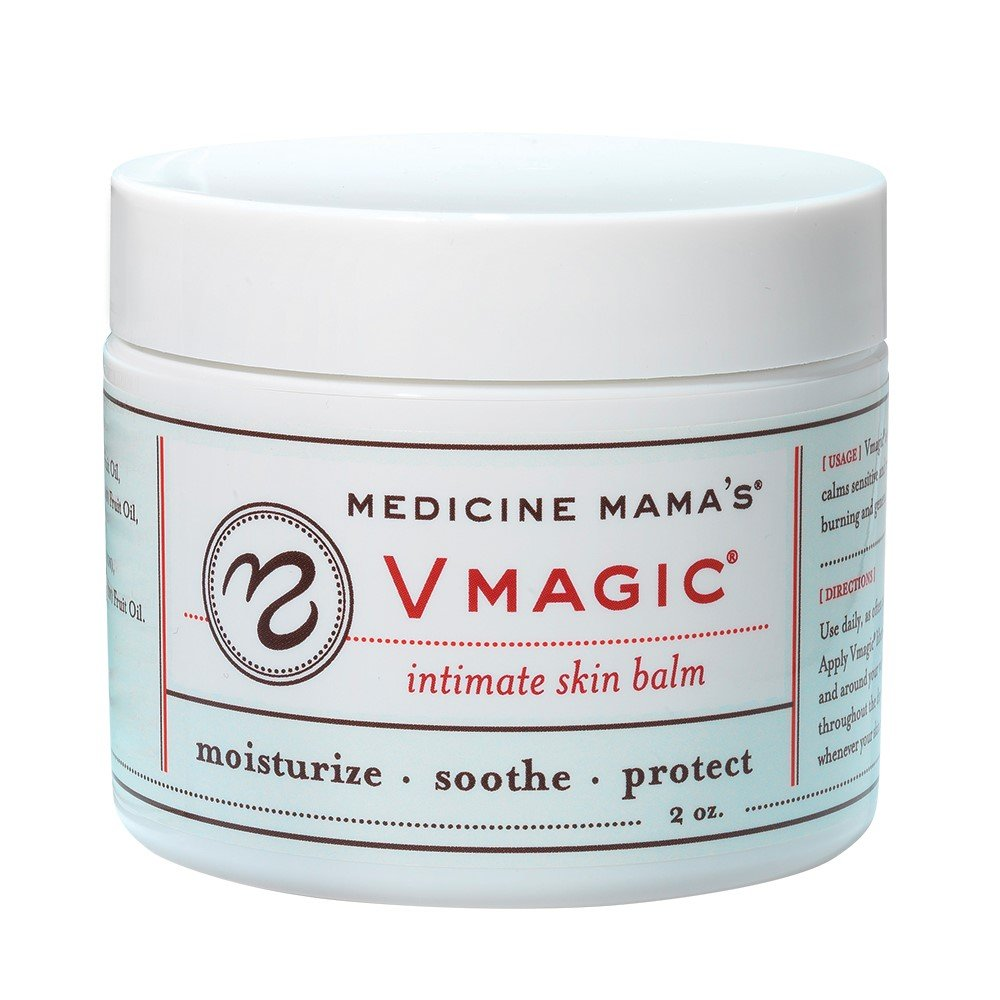 Vmagic Organic Vulva Balm & Intimate Skin Care, Vaginal Moisturizer & Personal Lubricant - Relieves Dryness, Itching, Burning, Redness, Chafing, Odor, Menopause Symptoms - Estrogen Free (2 Ounce)