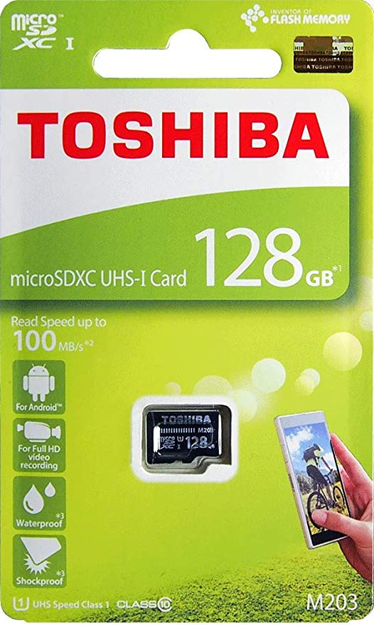 840644c85 Toshiba 128GB M203 microSDXC UHS-I U1 Card Class 10 microSD micro SD Card  Memory