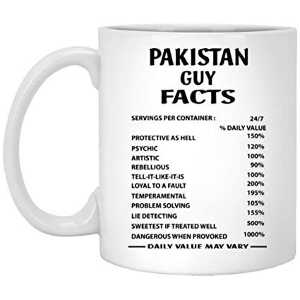 Amazon PAKISTAN GUY FACTS Coffe Mug