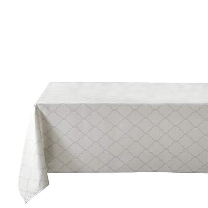 5c757c8ae5f0 Amazon.com  VCNY Home Premium Lattice Fabric Tablecloth - Assorted Colors    Sizes (White